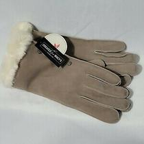 Koolaburra by Ugg Studded Gloves With Faux Fur Cuff in Cinder Gray Photo