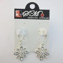 Korea Silver Long Crystal Rhinestone Vintage Hollow Dangle Earring Bling Topshop Photo