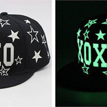 Korean Baseball Cap Flat-Brimmed Hat Luminous Cap Hip Hop Halloween Hat Cool Hat Photo