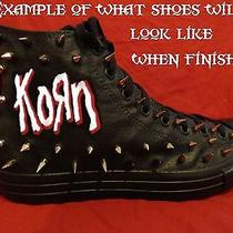 Korn Metal Punk Rock Custom Studded Converse Chuck Shirt Sneakers Shoes W Spikes Photo