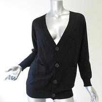 Kova  T Black Wood Button Cardigan S Photo