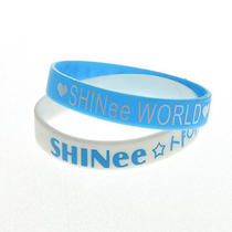 Kpop Shinee World Shinee 2 X Silicone Wristbands Printed Rubber Bracelet New Photo