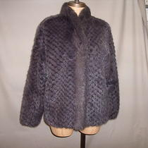 Kreigsman's Fur's Woven Mink Jacket Purple/gray Hue Custom Design &mades10-12 Photo
