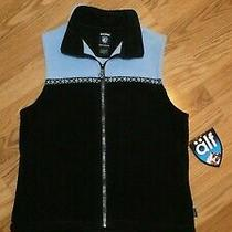 Kuhl Women's S Small Bloom Fleece Vest  Sky Blue & Black Photo