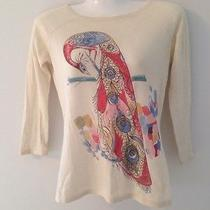l.a.m.b. Cashmere Blend Sp 05 Peacock Sweater Sz Small Rare Gwen Stefani Photo