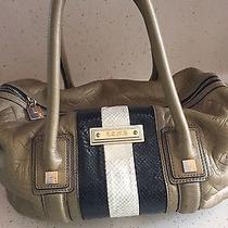 l.a.m.b.  Gold Metallic Satchel Photo