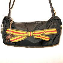 l.a.m.b. Gwen Stefani Black Nylon Small Lesportsac Hob Satchel Purse Bag Photo
