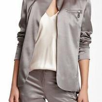 l.a.m.b. Gwen Stefani Viscose Satin Blazer/jacker Slate/silver Color Size 8 Photo