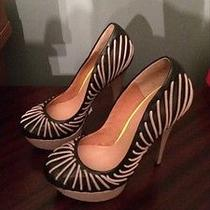 l.a.m.b. Holiday Black and Taupe Stiletto Size 7m Photo