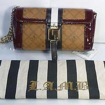 l.a.m.b. Lipstick Saddle Clutch / Wrist-Let Bag Purse  Photo