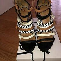 l.a.m.b. Strappy Leather Open Toe Sandal Size 7 Photo
