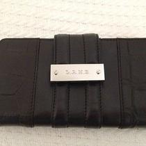 l.a.m.b.women's Leather Clutch Wallet Black Leather  Photo