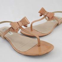L.k. Bennett Blondi Blush Patent Leather Flat Thong Sandal Shoe Sz 36 6 Photo