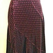 L K Bennett Lovely Mulberry Dotted  Detail Fit and Flare Bias Cut Skirt Size 10 Photo