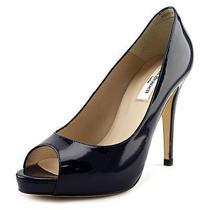 L.k. Bennett Nina  Women Us 6.5 Blue Peep Toe Heels Photo