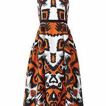L.k. Bennett Women's Dress Black Size 10 a-Line Printed Sleeveless 565- 441 Photo