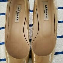 L.k. Bennett Womens Round Toe Classic Pumps Nude Patent Leather Size 38.5 Us 8 Photo