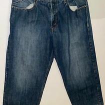 Lk Mens Levis Silvertab Baggy Straight Leg Blue Jeans Size 34 X 30 Nice Photo