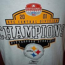 Lk Mens Reebok Vintage 2001 Pittsburgh Steelers Afc Champions T Shirt Large Photo
