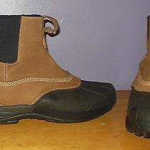 L.l. Bean Men's Storm Chaser Leather & Rubber Insulated Boots Size 12 M Photo