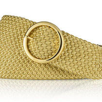 L - Lauren Ralph Lauren O-Ring Woven Nylon Belt - Gold 4142538816 Photo