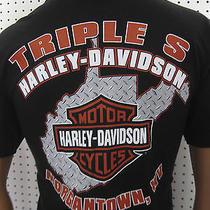 L Nwt  Harley Davidson Milwaukee Usa Bike Tee Shirt Morgantown Wv Photo