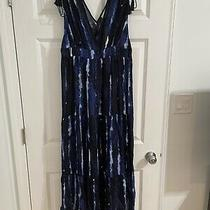 l.o.g.g. by h&m Blue Tie Dyed Maxi Dress Size 10 New With Tags Photo