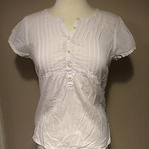 l.o.o.g. by h&m Womans White Button Chest Top Size 8 Photo