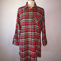 l) Ralph Lauren Campbell Long Boyfriend Flannel Shirt Rll Embroidered Shirt Photo