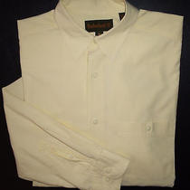 L Solid Yellow Timberland Button-Front L/s Casual Dress Shirt S1467  Photo