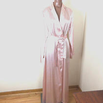 La Perla 100% Silk Robe Blush Pink Full Length Belted Boudoir Sleepwear New Tags Photo
