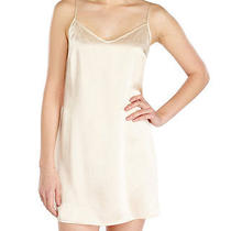 La Perla Dolce Collection S 100% Silk Chemise Blush Champagne Elegant New Photo