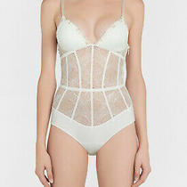 La Perla Elements 34b Bodysuit Teddy Off White Lurex Gold 1005 Photo