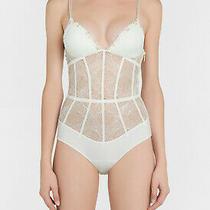 La Perla Elements 34b Bodysuit Teddy Off White Lurex Gold 1005 Photo