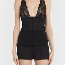 La Perla Elements M Black Silk Georgette Pajama Set Lurux Embroidery 1360 Photo