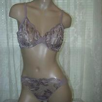 La Perla Lp Style Collection 36b M Full Cup Bra Thong Set Pink Quartz New  Photo