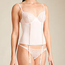 La Perla Narcissus Collection 36b M Bustier Thong Set Blush Pink Garters  Photo