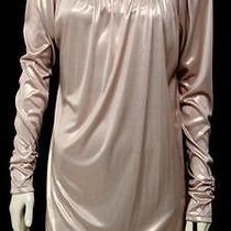 La Rok Metallic Blush Scoop Neck Long Sleeve Shift Dress Size Medium Photo