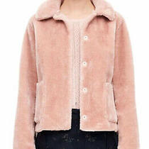 La Vie Rebecca Taylor Faux Fur Shearling Coat Blush Pink Size Extra Small Xs Photo