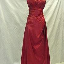 Labelle Pageant Prom Cocktail Strapless Wrapped Gown Mother Dress Claret Sz 14 Photo