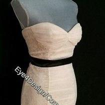 Lace Ivory White Black Wedding Cocktail Bebe Dress Shoes 6 7 8 M Medium 169  Photo