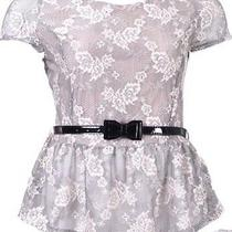 Lace Peplum Top Photo