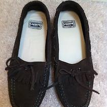 Lacosta Brown With Green Trim Suede Topsider Flats Size 6 Photo