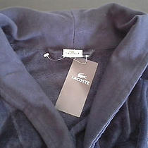 Lacoste Adult Bathrobe Robe Navy Blue Nwt One Size Rest & Relaxation Free Ship Photo