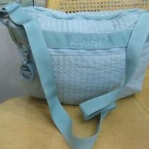 Lacoste Aqua Turquoise Quilted Nylon Zipped Crossbody Tote Handbag Purse Photo