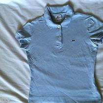 Lacoste Authentic Women's Light Blue Short Sleeve Pique Cotton T- Shirt  40 Photo
