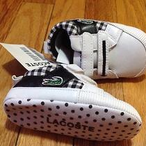 Lacoste Baby Boys Shoes Size 3/4 Photo