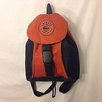 Lacoste Backpack Orange and Black Small Designer Bag Photo