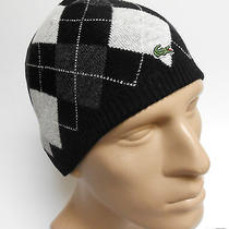 Lacoste Beanie Winter Argyle Reversible Hat Photo