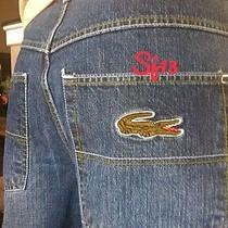 Lacostebig Crocodile Rare Unique 100% Authentic Jeans Size 36 X 32 Photo